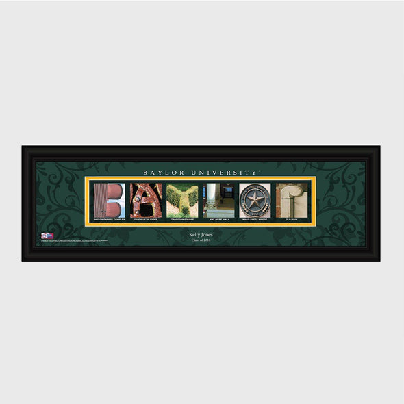 Personalized Big 12 Division Conference Architectural Campus Art - University College Art-Baylor-
