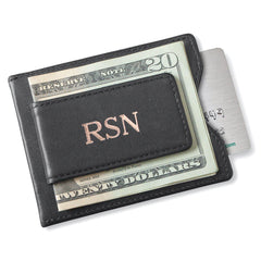 Personalized Groomsman Wallet - Magnetic Money Clip - Black-Groomsmen Gifts