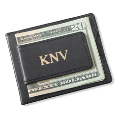 Personalized Groomsman Wallet - Magnetic Money Clip - Black-Gold-