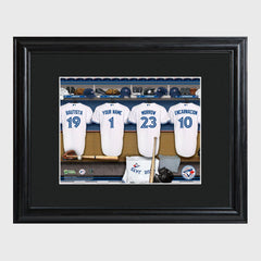 Personalized MLB Clubhouse Framed Print-Toronto Blue Jays-