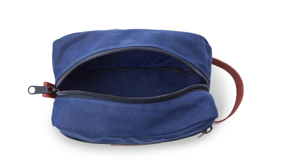 Men's Personalized Waxed Canvas Travel Bag – Blue-