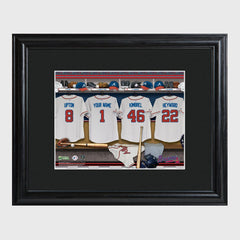 Personalized MLB Clubhouse Framed Print-Atlanta Braves-