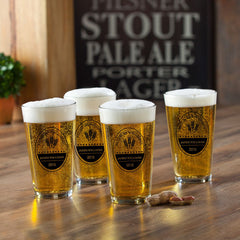 Personalized Beer Glasses - Pub Glasses - Set of 4 - 16 oz.-BrewingCo-