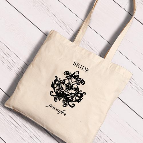 Personalized Canvas Totes - Bride and Bride to Be-Chandelier-