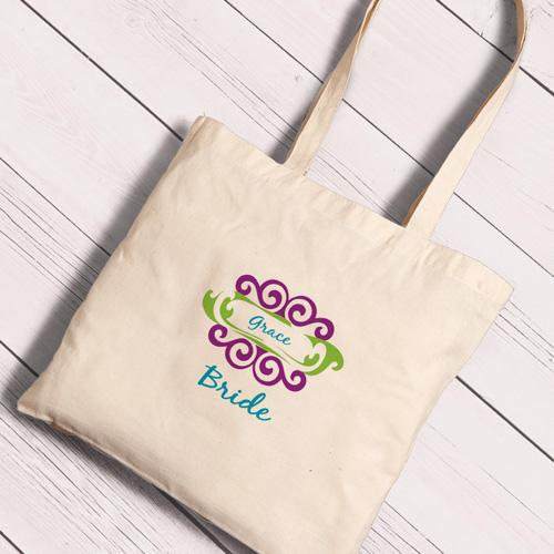Personalized Canvas Totes - Bride and Bride to Be-Curlz-