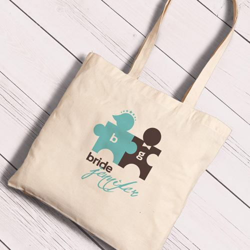 Personalized Canvas Totes - Bride and Bride to Be-CuteCouple-