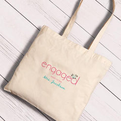 Personalized Canvas Totes - Bride and Bride to Be-Engaged-