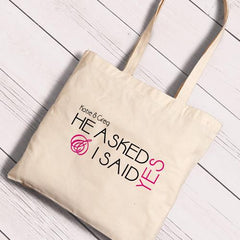 Personalized Canvas Totes - Bride and Bride to Be-HeAsked-