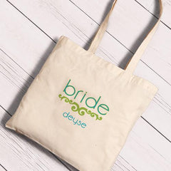 Personalized Canvas Totes - Bride and Bride to Be-Groomsmen Gifts