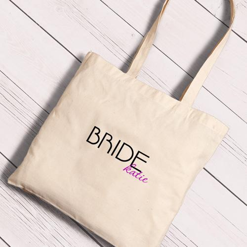 Personalized Canvas Totes - Bride and Bride to Be