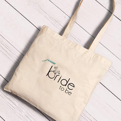 Personalized Canvas Totes - Bride and Bride to Be-BrideToBe-