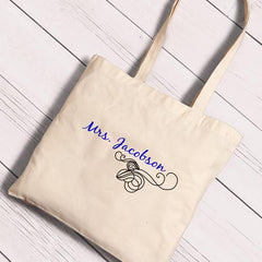 Personalized Canvas Totes - Bride and Bride to Be-Violet-