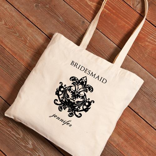 Personalized Canvas Tote - Bridesmaid-Chandelier-