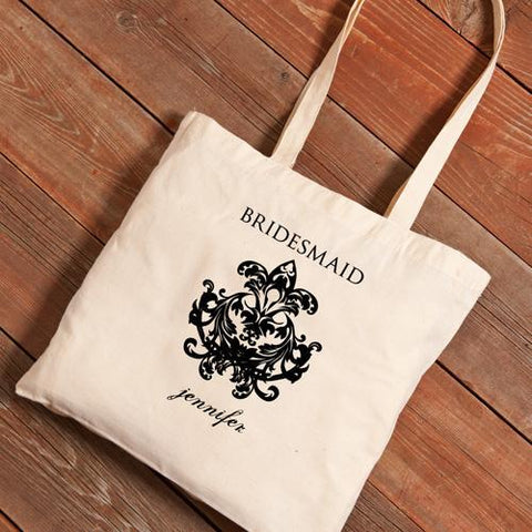 Personalized Canvas Tote - Bridesmaid-Groomsmen Gifts