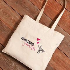 Personalized Canvas Tote - Bridesmaid-Chicks-