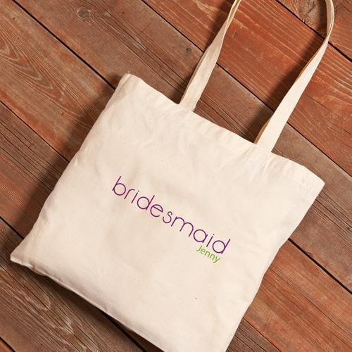 Personalized Canvas Tote - Bridesmaid