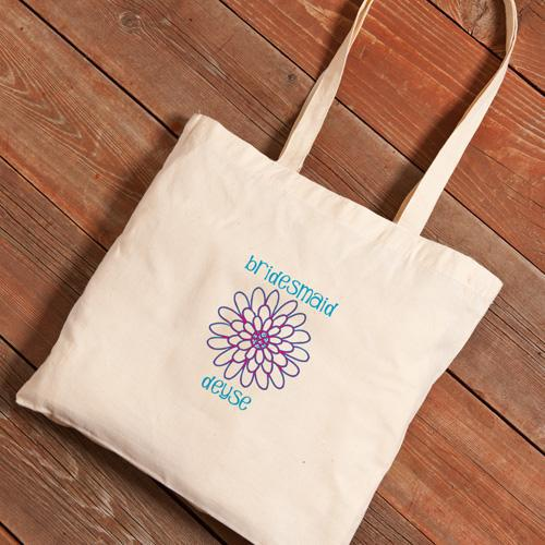 Personalized Canvas Tote - Bridesmaid-Daisy-