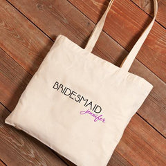 Personalized Canvas Tote - Bridesmaid-Signature21-