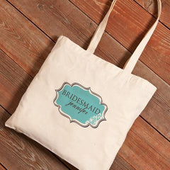 Personalized Canvas Tote - Bridesmaid-SimplySweet-