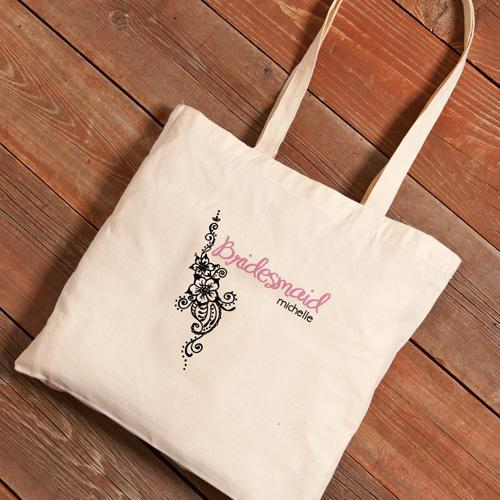 Personalized Canvas Tote - Bridesmaid-Blooms-