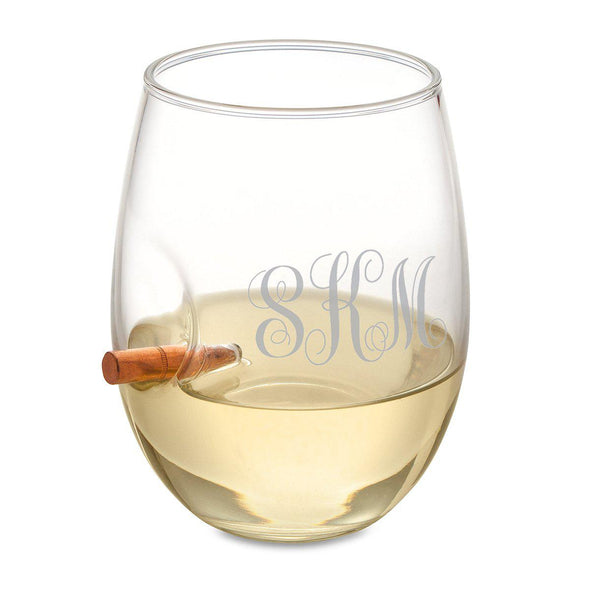 Personalized Set of 5 Bridesmaid Bulletproof Wine Glasses