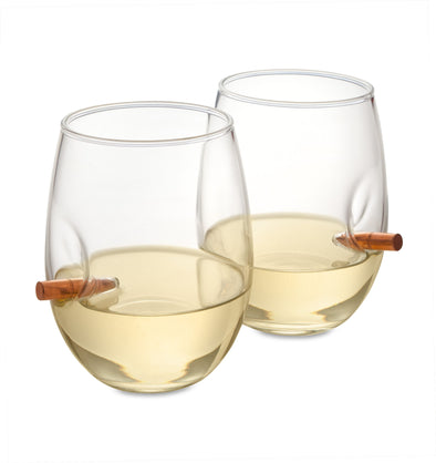 Personalized Bridesmaid Bulletproof Wine Glasses - Set of 2-