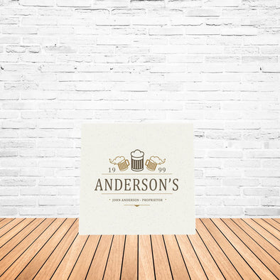 Personalized Beer Mugs Canvas Sign-Default-