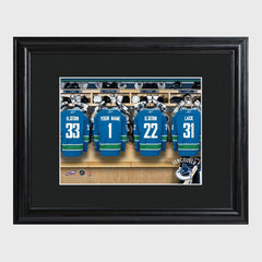 Personalized NHL Locker Room Print - All teams-Vancouver Canucks-
