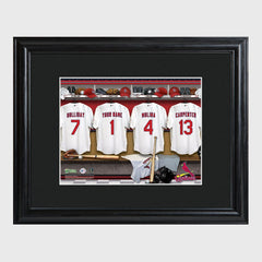 Personalized MLB Clubhouse Framed Print-Groomsmen Gifts