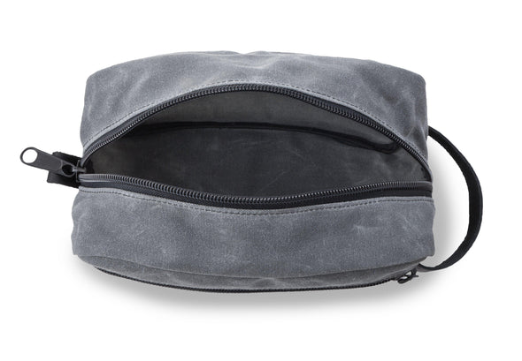 Men's Travel Bag for Groomsmen – Waxed Canvas - Charcoal-