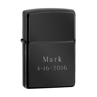 Personalized Lighters - Zippo - Ebony Lighter - Groomsmen Gifts-1+-