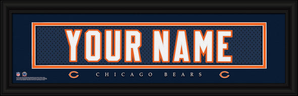 Personalized Frames - NFL - Stitched Letter Art Print & Frame-Bears-