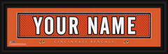 Personalized Frames - NFL - Stitched Letter Art Print & Frame-Bengals-
