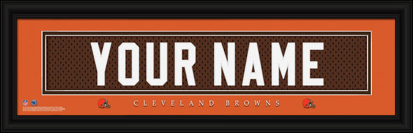 Personalized Frames - NFL - Stitched Letter Art Print & Frame-Browns-