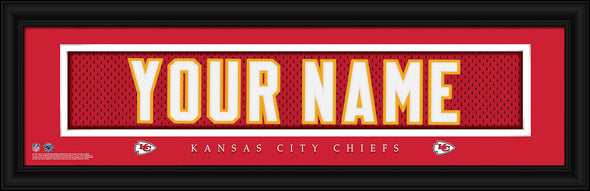 Personalized Frames - NFL - Stitched Letter Art Print & Frame-Chiefs-