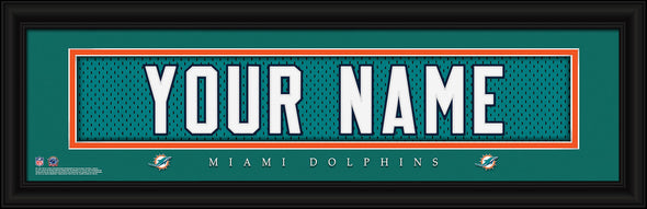 Personalized Frames - NFL - Stitched Letter Art Print & Frame-Dolphins-