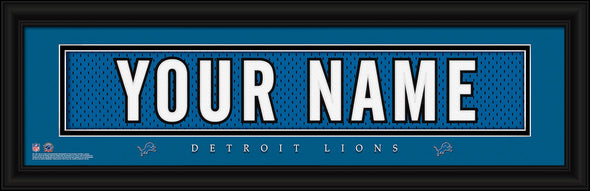 Personalized Frames - NFL - Stitched Letter Art Print & Frame-Lions-
