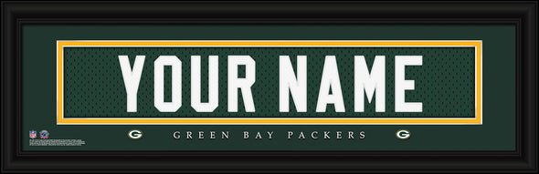 Personalized Frames - NFL - Stitched Letter Art Print & Frame-Packers-