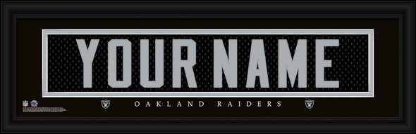 Personalized Frames - NFL - Stitched Letter Art Print & Frame-Raiders-