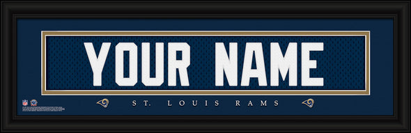 Personalized Frames - NFL - Stitched Letter Art Print & Frame-Rams-