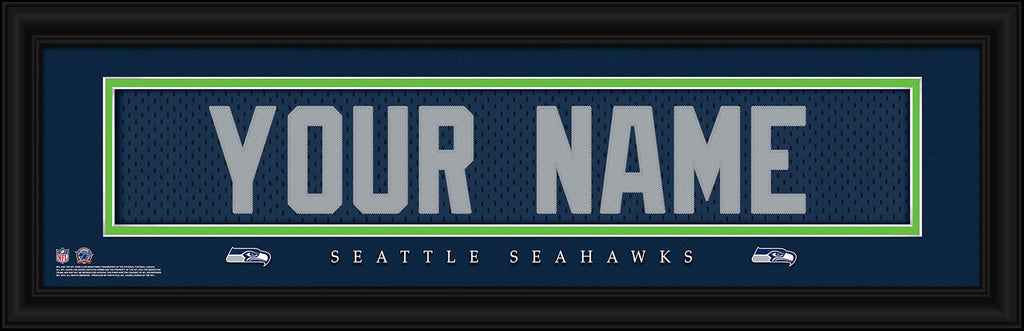 Personalized NFL Stitched Letter Art Print & Frame - All Teams