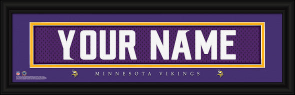 Personalized Frames - NFL - Stitched Letter Art Print & Frame-Vikings-
