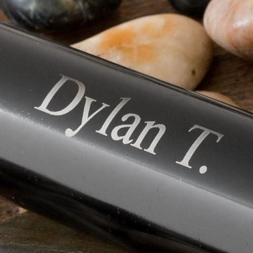 Personalized Black Aluminum Flashlight
