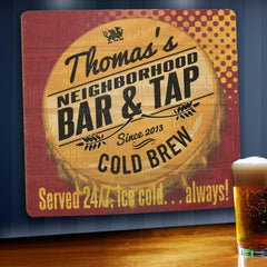 Personalized Bar Signs - Wooden Sign - Man Cave Signs-served247-