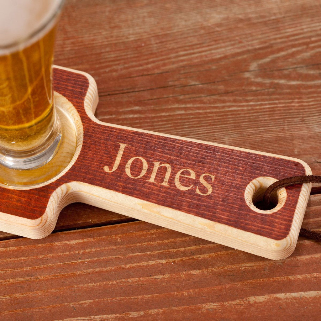 Beer Flight - Personalized - Wooden - 4 Mini Pilsners