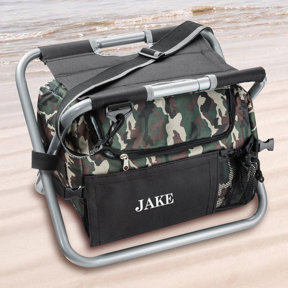 Personalized Camouflage Cooler Chair  - Sit N' Sip