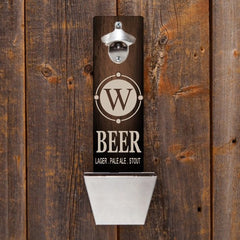 Personalized Bottle Opener - Wall Mounted - Groomsmen Gifts-Beer-
