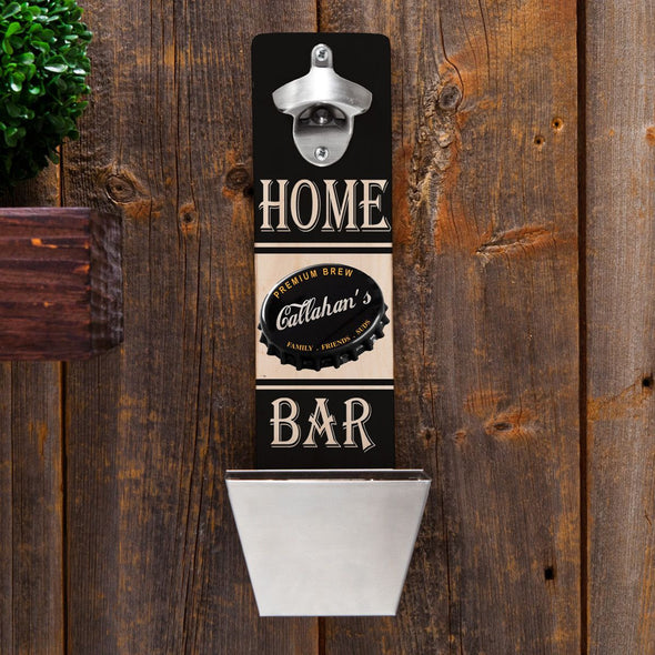Personalized Set of 5 Wall Mounted Bottle Openers-Bar Accessories-JDS-PremiumBrew-