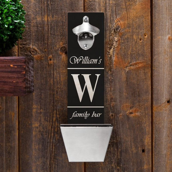Personalized Set of 5 Wall Mounted Bottle Openers-Bar Accessories-JDS-FamilyBar-