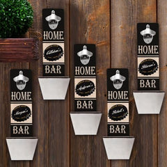 Personalized Set of 5 Wall Mounted Bottle Openers-Groomsmen Gifts